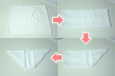 タオルのひし形タイダイ染め ステップ01