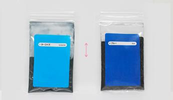 染料は色ごとに比重が異なります。そのため同じ重さであっても見た目的には多い・少ないといった差が生じます