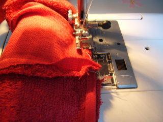 もう一度ミシン縫い