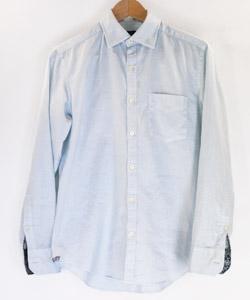 そめそめキットPro「[ラムネ」で染めた白シャツ