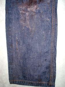 オリジナルジーンズNO,2(インディゴ,裾)