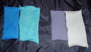 漂白後 青 反応紫