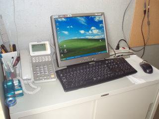 研究室にパソコンが!