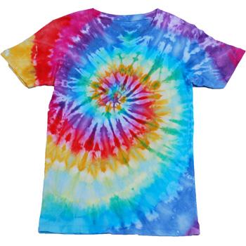 タイダイ染めレインボーなTシャツ