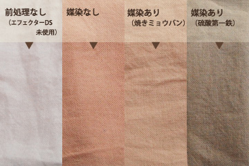 草木染め~梅染めした綿製品