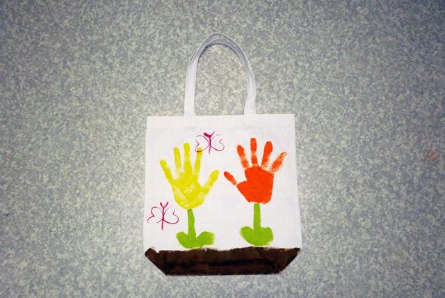 手形トート(完成!) / プチかけるくんを使ってオリジナルトートバッグ制作