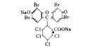 食用色素 - 食用赤色104号 フロキシンの構造式
