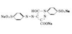 食用色素 - 食用黄色4号 タートラジンの構造式